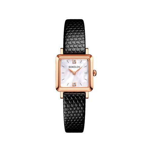 Женские золотые часы (231.01.00.000.05.01.2) - фото №2