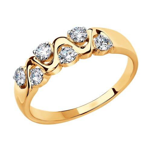 Кольцо из золота с бриллиантами (1010346) - фото
