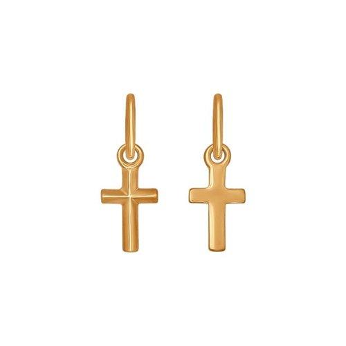 Католический крестик из золота