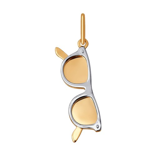 Подвеска «Очки» из комбинированного золота