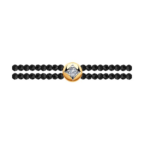 Браслет из золота с бриллиантами (1050120) - фото