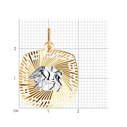 Подвеска «Знак зодиака Телец» (031635) - фото №2