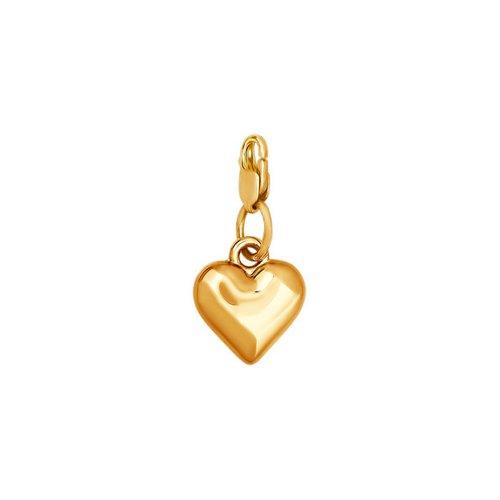 Золотая подвеска в форме сердца SOKOLOV