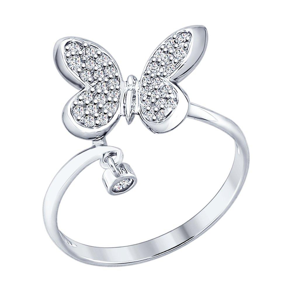 Серебряное кольцо «Бабочка» SOKOLOV