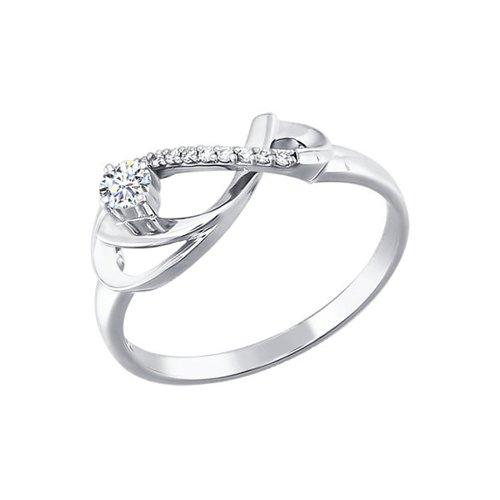 Кольцо в форме бесконечности c бриллиантами SOKOLOV