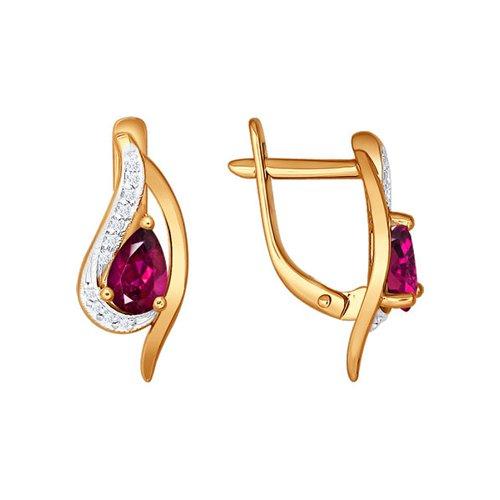 Кольцо c рубином и бриллиантовыми дорожками