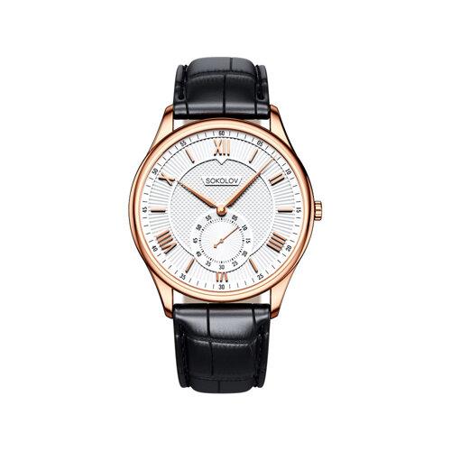 Мужские золотые часы (237.01.00.000.01.01.3) - фото №2