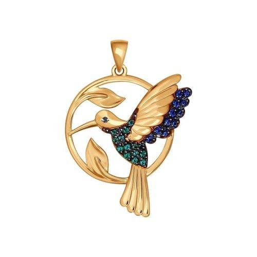 Подвеска из золота «Колибри»