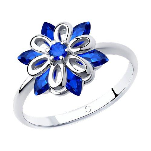 Кольцо из серебра с фианитами (94012982) - фото