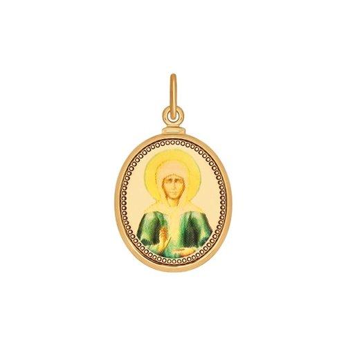 Золотая иконка Матрона Московская (200071) - фото