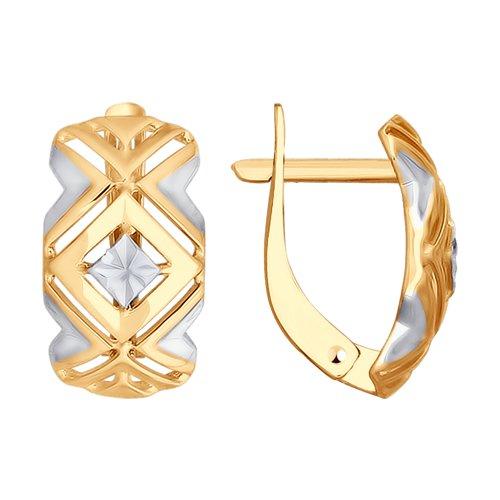 Серьги из золота с алмазной гранью (027676) - фото