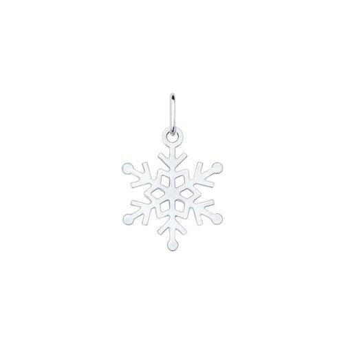 Подвеска «Снежинка» из серебра (94031631) - фото
