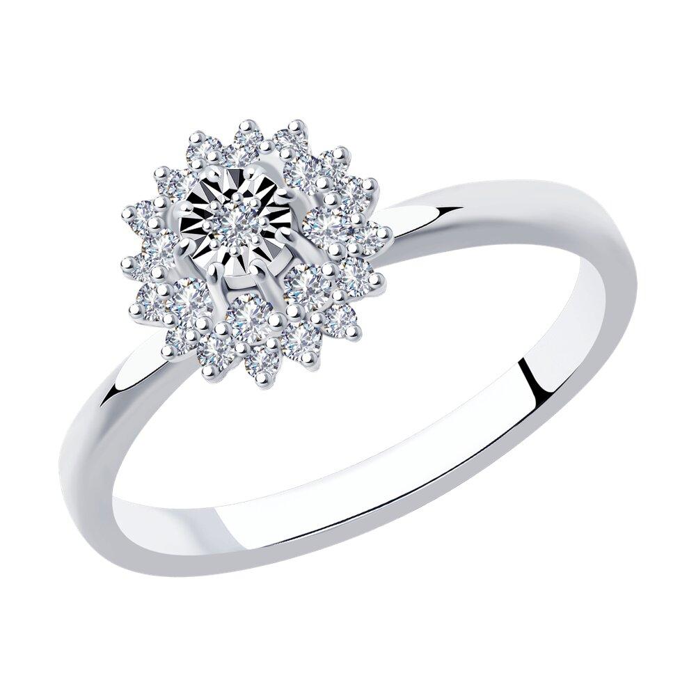 Кольцо SOKOLOV из белого золота с бриллиантами фото