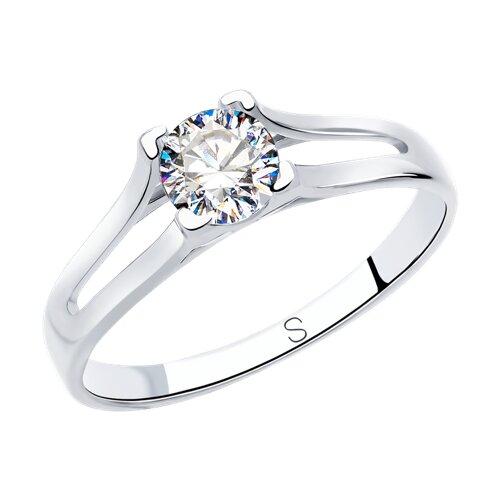 Кольцо из серебра со Swarovski Zirconia (89010119) - фото