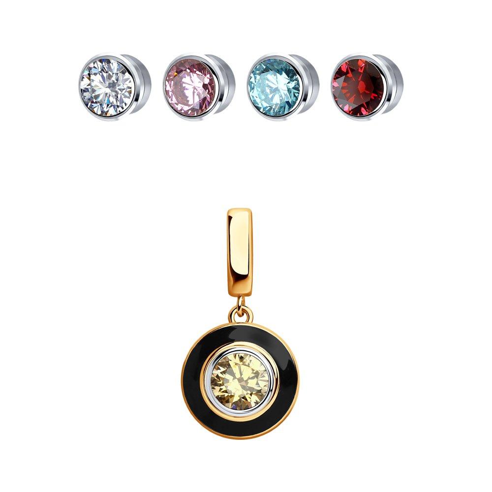 Подвеска SOKOLOV из золота со сменными вставками Swarovski, коллекция Kaleidoscope
