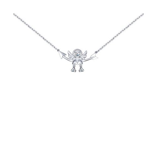Колье «Ангел» из серебра с фианитами