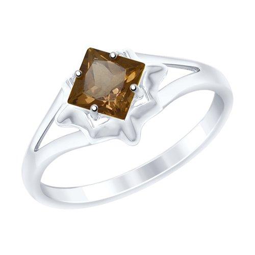 Кольцо из серебра с раухтопазом (92011515) - фото