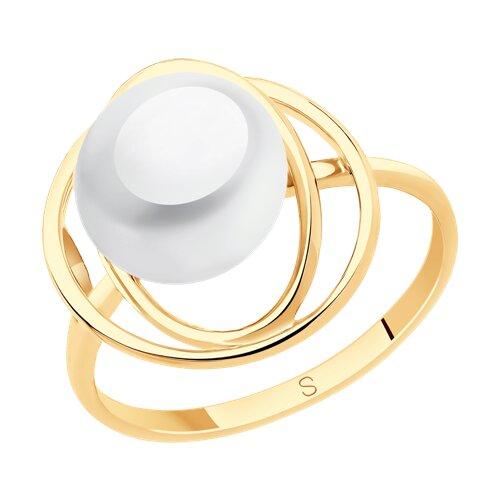 Кольцо из золота с жемчугом (791132) - фото