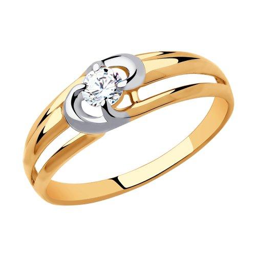 Кольцо из золота (018422) - фото