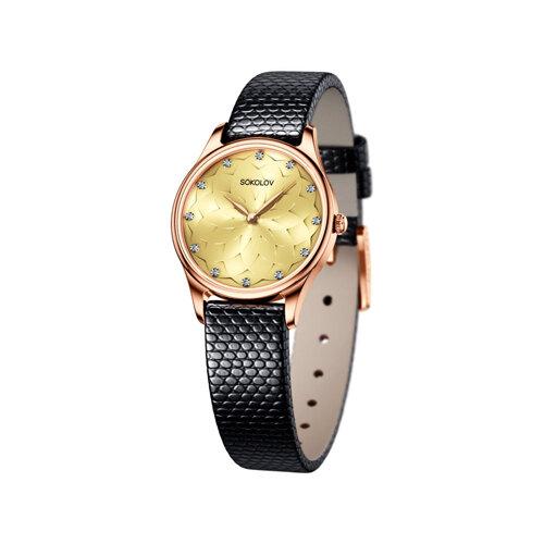 Женские золотые часы (238.01.00.000.09.01.2) - фото
