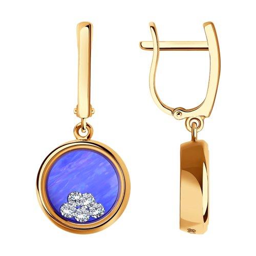 Серьги из золота с миксом камней (027849) - фото
