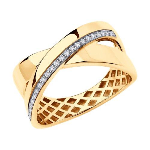 Кольцо из золота с бриллиантами (1011936) - фото