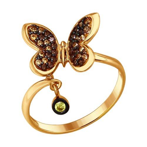 Кольцо «Бабочка»  (93010663) - фото