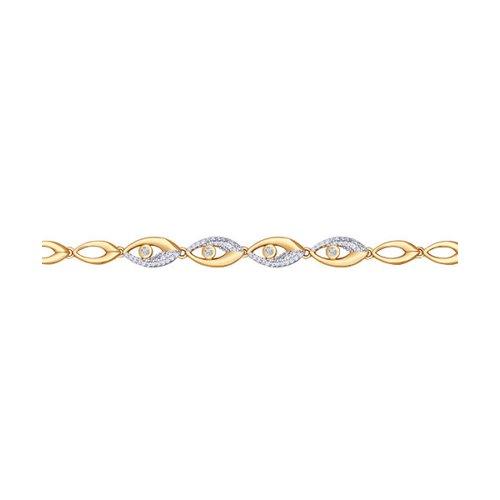 Браслет SOKOLOV из золота с фианитами «Фараон» стоимость