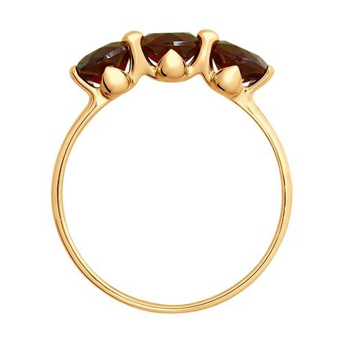 Кольцо из золота с гранатами (714927) - фото №2