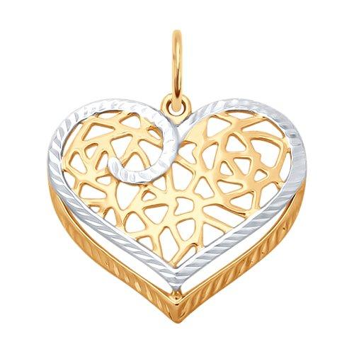 Подвеска из золота с алмазной гранью (035336) - фото
