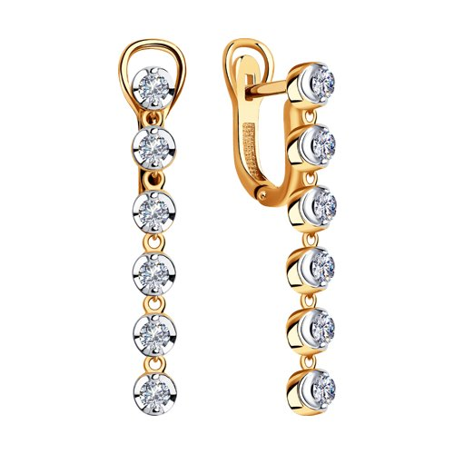 Серьги из золота с бриллиантами (1021304) - фото №2