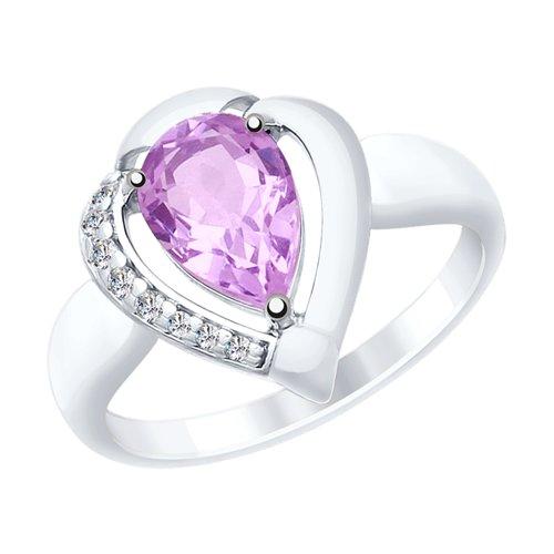Кольцо из серебра (92011482) - фото