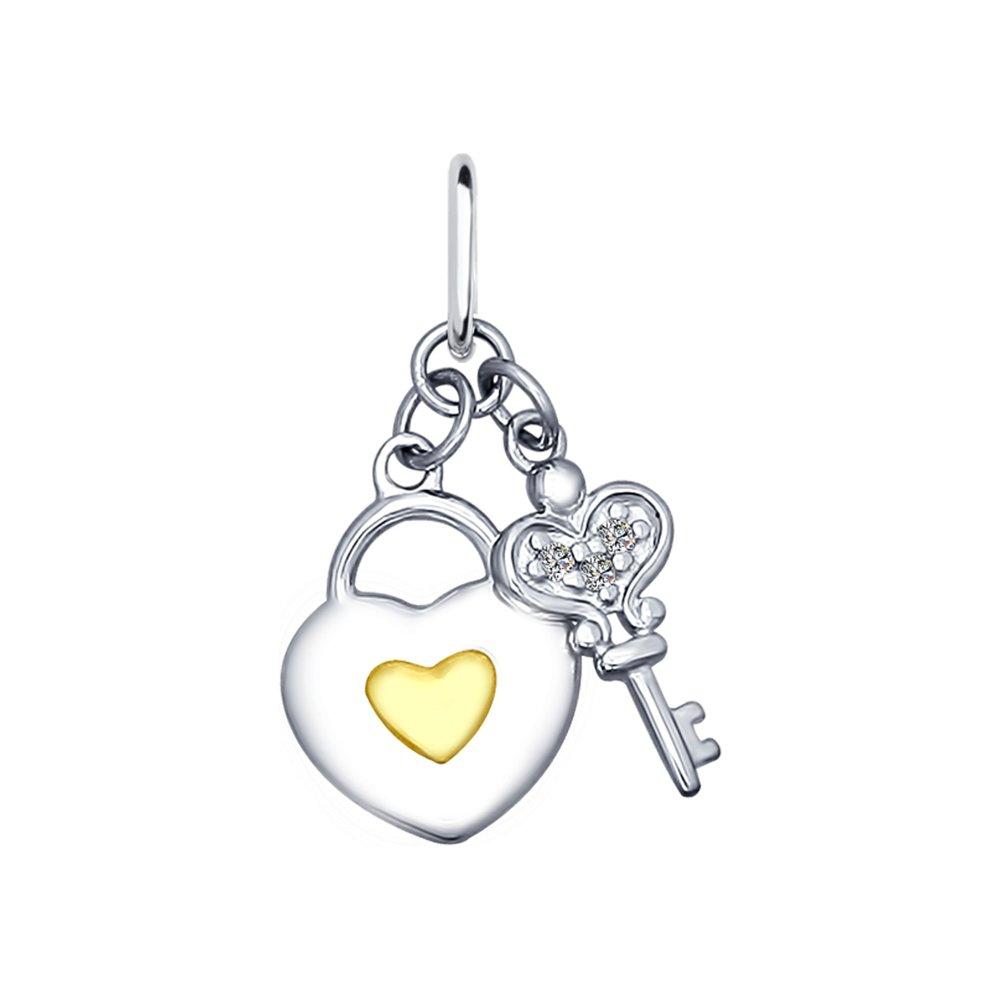 Подвеска «Ключ от сердца» с фианитами SOKOLOV беда от нежного сердца 2018 09 23t18 00 page 1