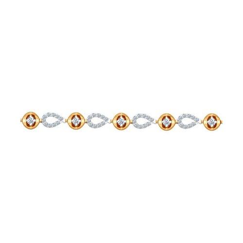 Браслет из золота с бриллиантами (1050065) - фото