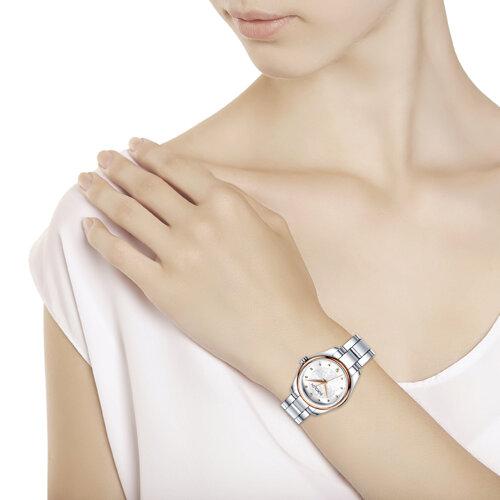 Женские часы из золота и стали (158.01.71.000.01.01.2) - фото №3