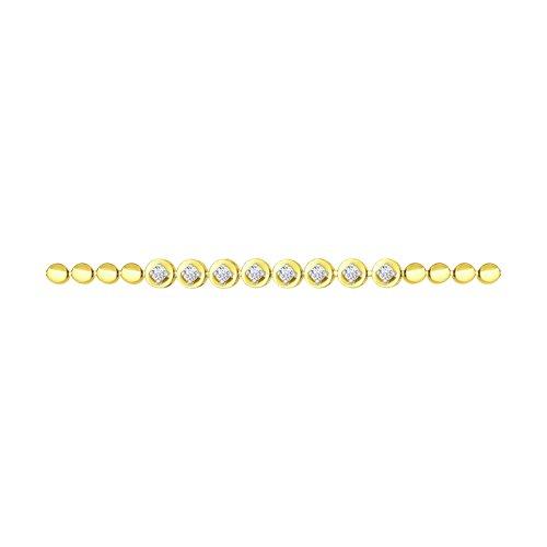 Браслет из желтого золота с бриллиантами (1050079-2) - фото