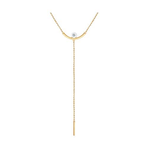 Колье из золота с бриллиантом (1070062) - фото