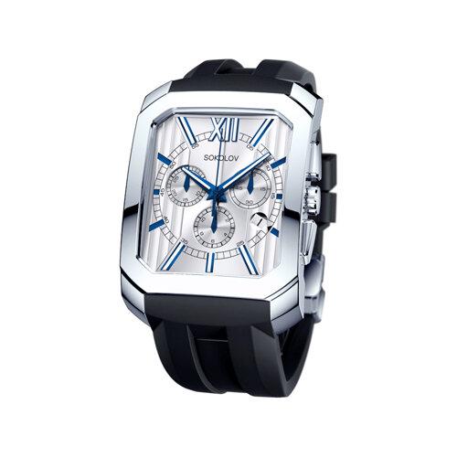 Мужские серебряные часы (144.30.00.000.01.05.3) - фото
