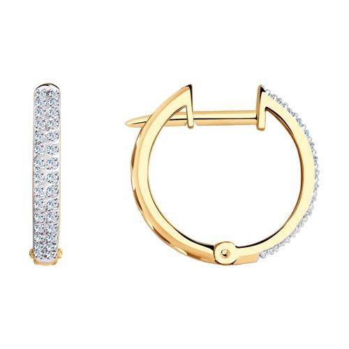 Серьги кольца с бриллиантами SOKOLOV цена