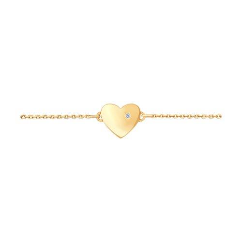 цена Браслет SOKOLOV из золота с бриллиантом «Любовь» онлайн в 2017 году