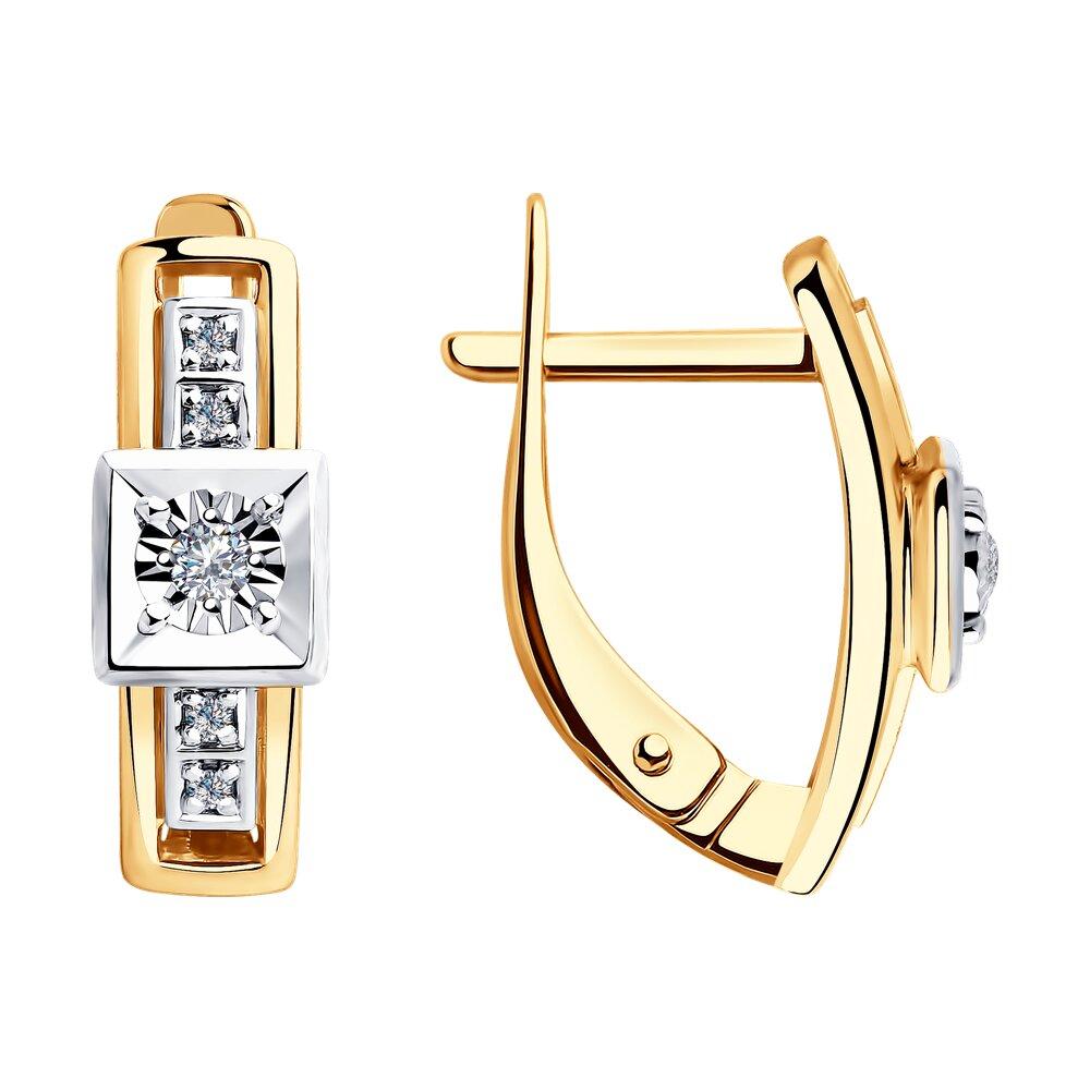 Серьги SOKOLOV из комбинированного золота с бриллиантами