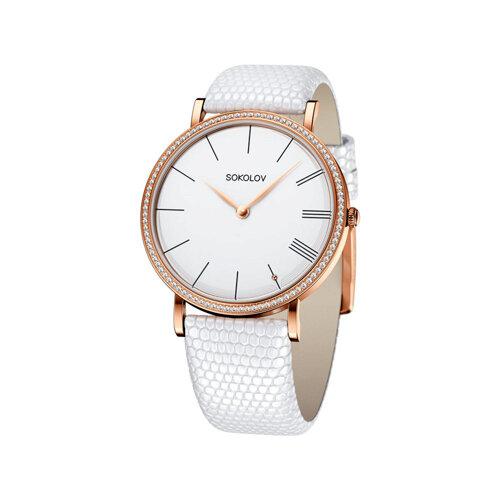 Женские золотые часы (210.01.00.001.01.02.2) - фото
