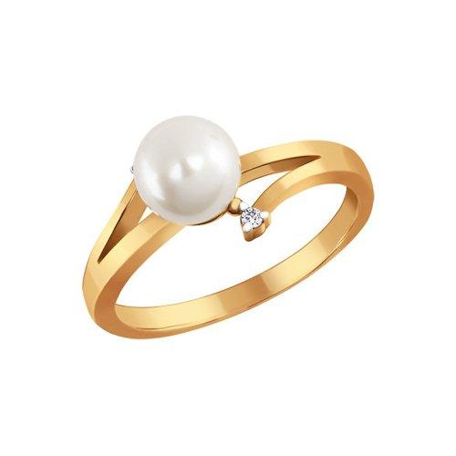 Золотое кольцо с жемчужиной SOKOLOV золотое кольцо ювелирное изделие 01k676500