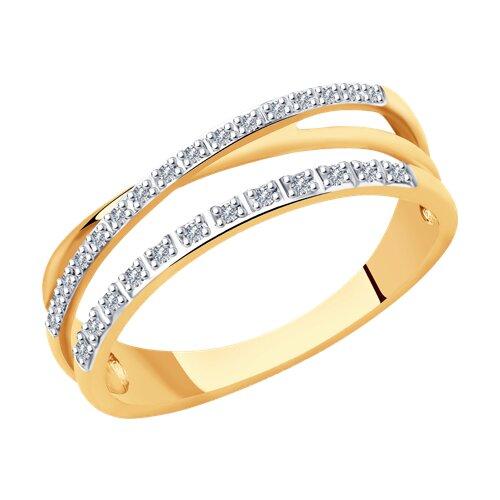 Кольцо из золота с бриллиантами (1011917) - фото