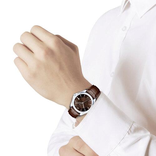 Мужские серебряные часы (135.30.00.000.08.03.3) - фото №3