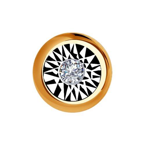 Подвеска из комбинированного золота с бриллиантом (1030751) - фото