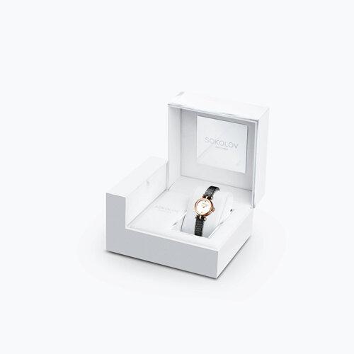 Женские золотые часы (215.01.00.000.01.01.2) - фото №4