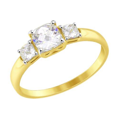 Кольцо из желтого золота (81010331-2) - фото