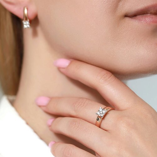 Кольцо из золота с бриллиантами 1011846 SOKOLOV фото 5