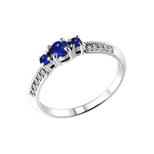 Кольцо SOKOLOV из белого золота с бриллиантами и сапфирами кольцо с топазами бриллиантами и сапфирами из белого золота